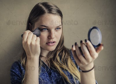 Girl doing make up