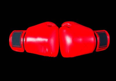boxing gloves on black background