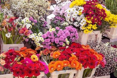 Flowers in market