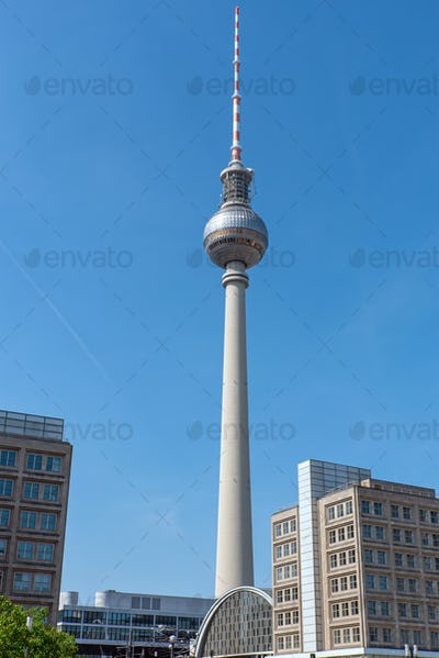 The Fernsehturm, Berlins most famous landmark