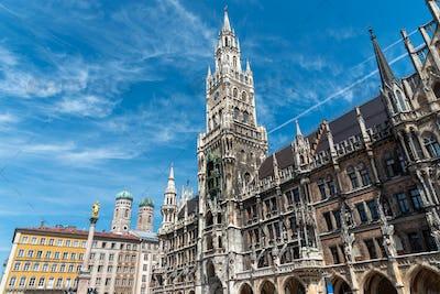 The townhall at the Marienplatz in Munich