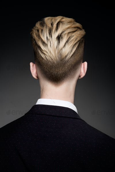 Back view of hairstyle for man