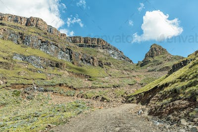 The hairpin bends in the Sani Pass