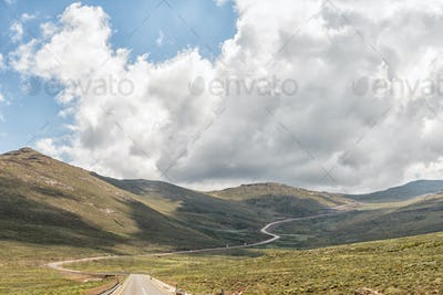 Black Mountain Pass in Lesotho