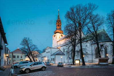 Tallinn, Estonia. Evening View Of Cathedral Of Saint Mary Virgin
