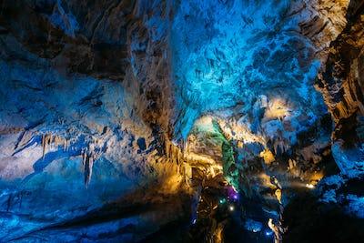 Kutaisi, Georgia. View Of Prometheus Cave Also Called Kumistavi