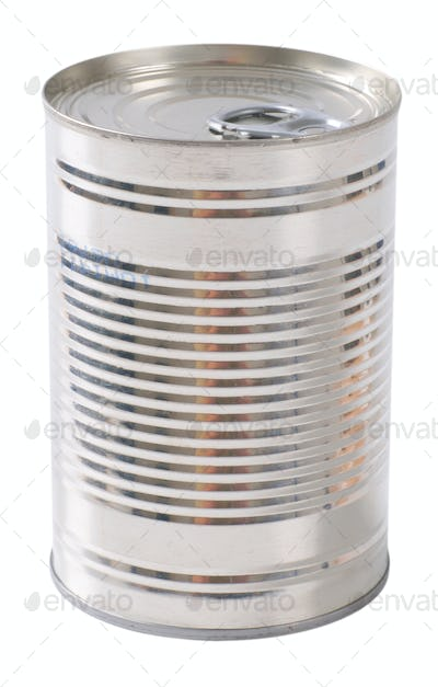 closed metal can