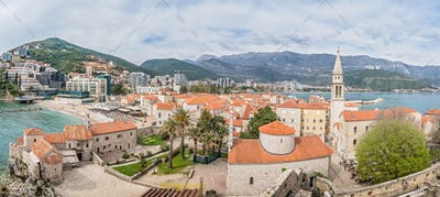Panorama of Budva town