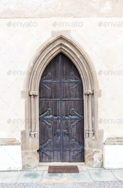 Old church or castle door
