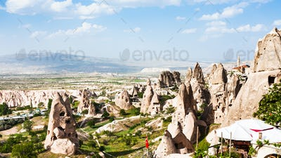 rocks near Uchisar castle in Cappadocia