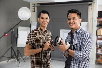 two young photographer