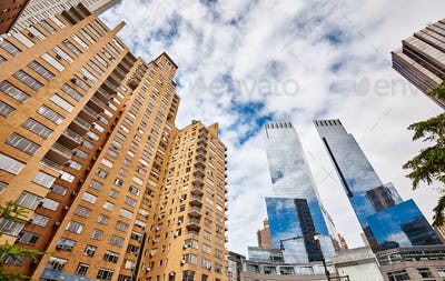 Manhattan residential and office buildings, New York.