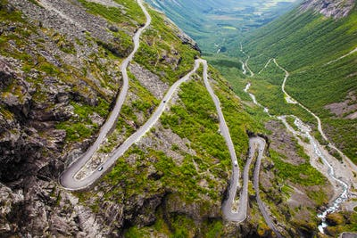 Trollstigen mountain road in Norway