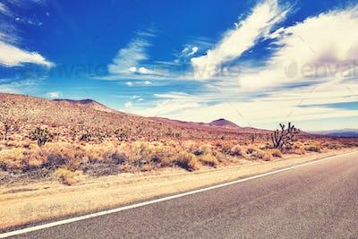 Scenic road, travel concept.