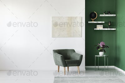 Simple interior with armchair