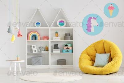 Scandi child's room interior
