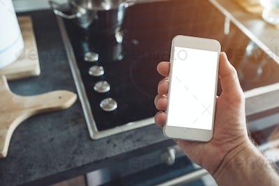 Internet of things, smartphone mock up screen