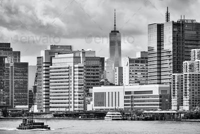 New York City waterfront, USA.