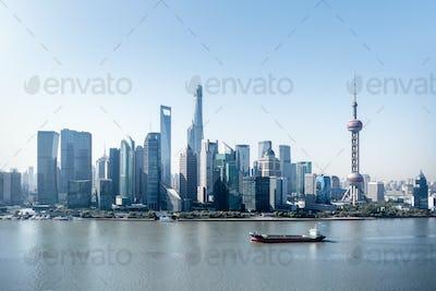 modern shanghai skyline
