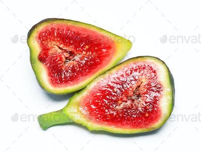 Fig fruit isolated on white