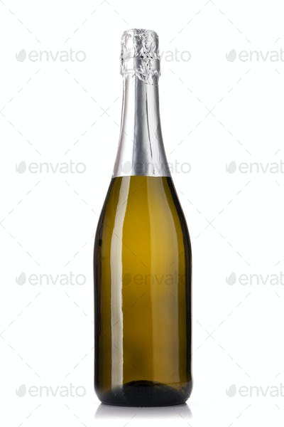 Champagne wine bottle