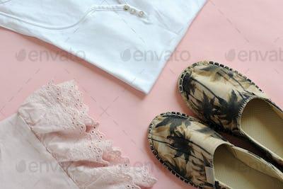 female summer clothes arrangement