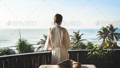 Mature woman at a spa