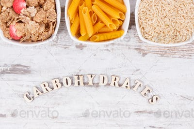 Products and ingredients containing carbohydrates and dietary fiber, healthy nutrition