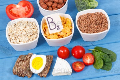 Nutritious ingredients containing vitamin B2, natural minerals and fiber, healthy nutrition