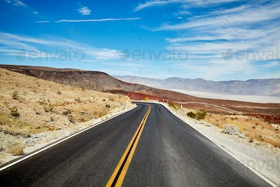 Picture of a desert road.