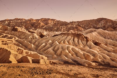 Mars-like deserted land of the Death Valley, USA.