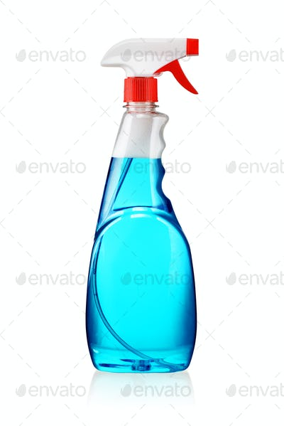 Spray bottle isolated