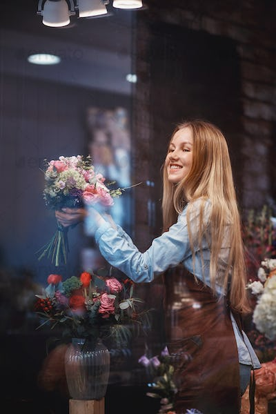 Young girl in the store