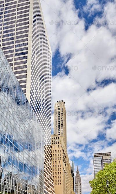 Manhattan modern architecture, New York City.
