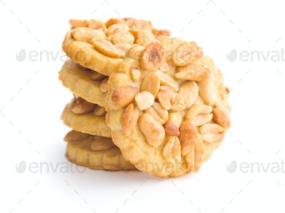 Sweet cookies with peanuts.