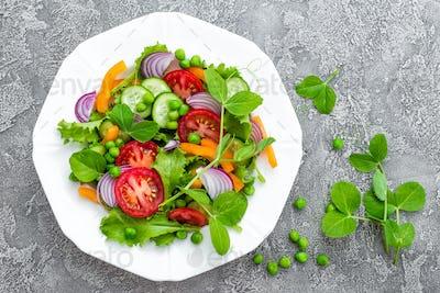 Salad. Fresh vegetable salad