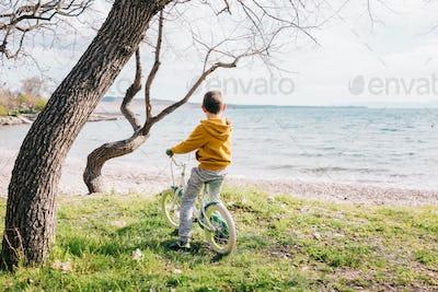 Boy on his bike