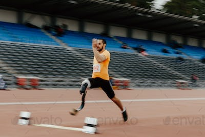 long jump athlete disabled amputee