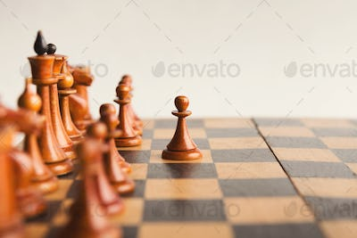 White pawn moves on chessboard