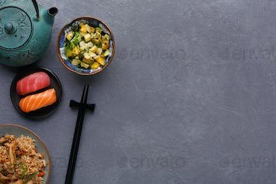 Japanese style food, restaurant serving