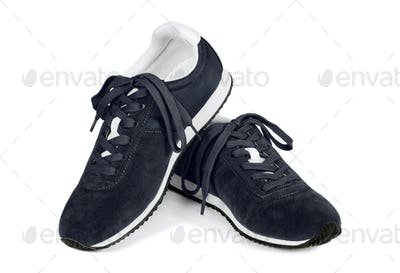 Black running shoes