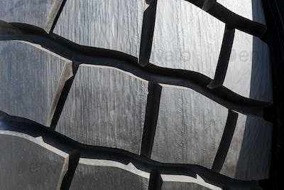 Heavy truck tire texture