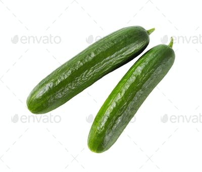 two green cucumbers
