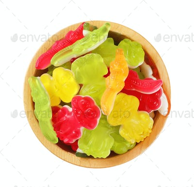 colorful gummy candies