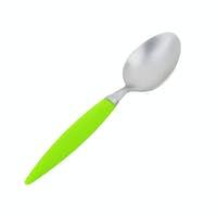 Empty teaspoon on white background