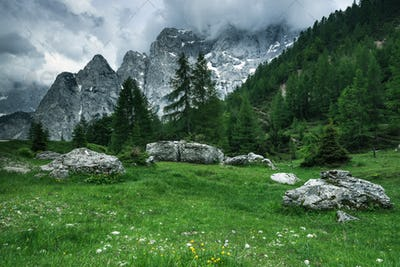 Breathtaking views in Julian Alps,Triglav Park,Slovenia