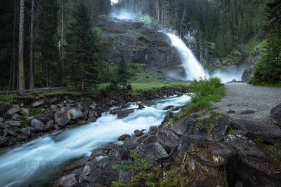 Krimml Waterfalls in High Tauern National Park , Austria.