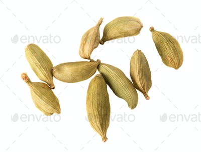 Close-up of sveral seeds Cardamom.