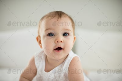 Portrait of cute smiling baby girl