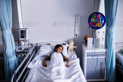 Patient resting in ward